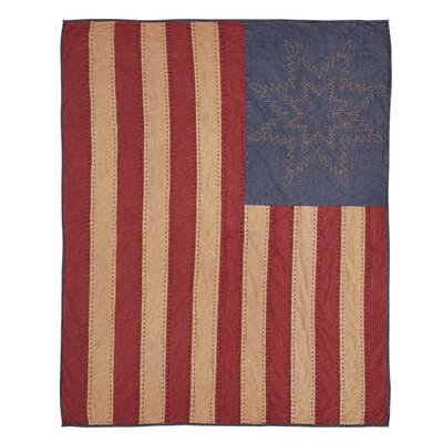 Pitts American Flag Cotton Throw Blanket