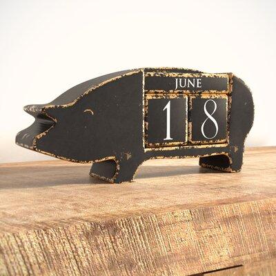 Pig Shaped Calendar