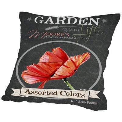 Elisabeth Chalkboard Assorted Colors Throw Pillow Size: 14 H x 14 W x 2 D