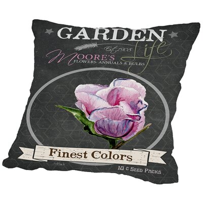 Celia Chalkboard Finest Colors Throw Pillow Size: 18 H x 18 W x 2 D