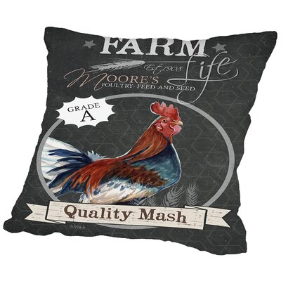 Freeda Chalkboard Mash Throw Pillow Size: 16 H x 16 W x 2 D