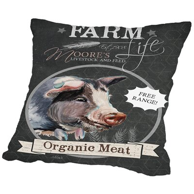 Dell Chalkboard Pig Throw Pillow Size: 18 H x 18 W x 2 D