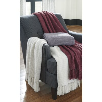 Ashburn Throw Color: Berry