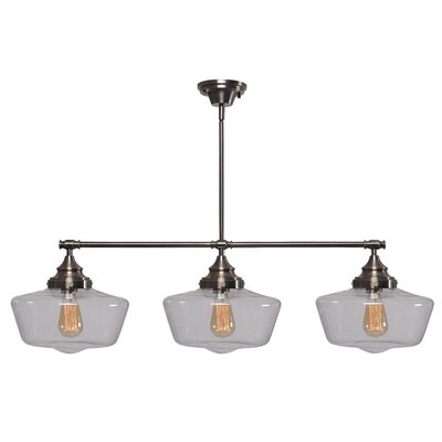 Priscilla 3-Light Kitchen Island Pendant Finish: Aged Metal