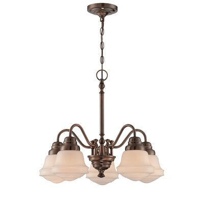 Bernice 5-Light Shaded Chandelier