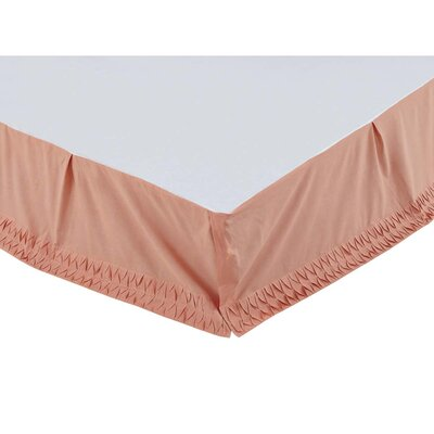 Madelyn Bed Skirt Size: Twin, Color: Apricot