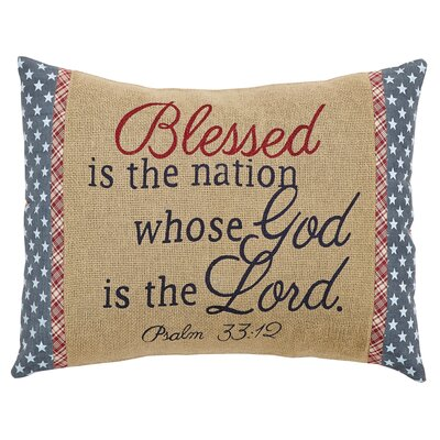 Adell Blessed 100% Cotton Lumbar Pillow