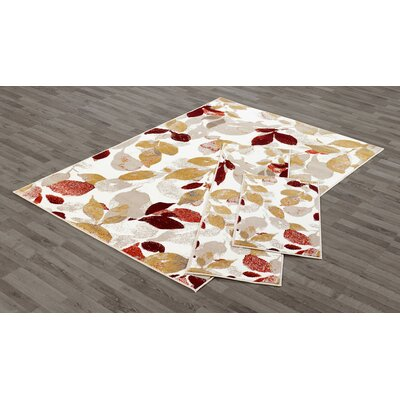 Ruby 3 Piece Red Area Rug Set
