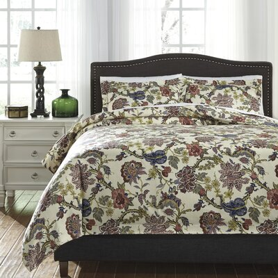 Ambrose 3 Piece Duvet Cover Set Size: Queen