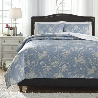 Luella 3 Piece Quilt Set Size: King