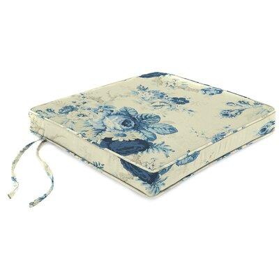 Indoor Chair Cushion Fabric: Sanctuary Rose Cornflower