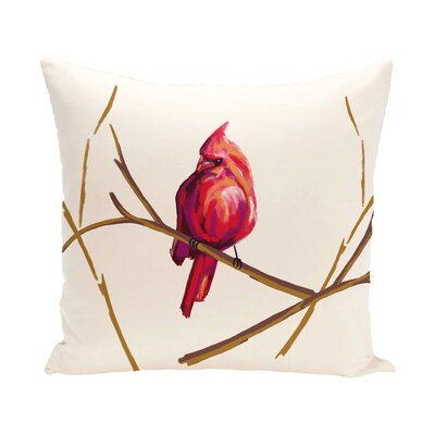 Agave Cardinal Print Outdoor Throw Pillow Size: 18 H x 18 W x 1 D