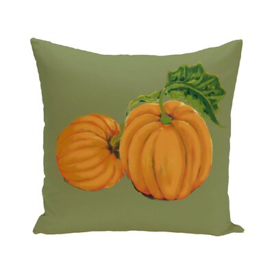 Pinero Pumpkin Patch Holiday Print Floor Throw Pillow Color: Gray