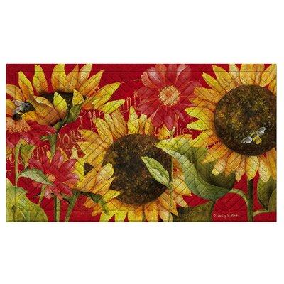 Juliaetta Sunflower Embossed Doormat