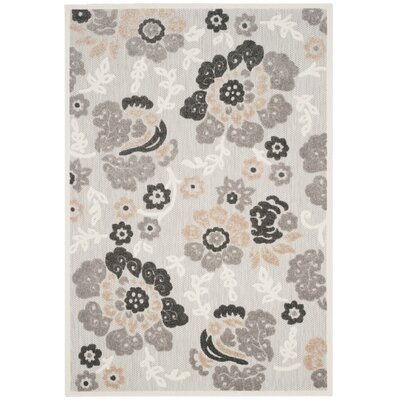 Suri Gray/Dark Gray Indoor/Outdoor Area Rug Rug Size: Rectangle 53 x 77