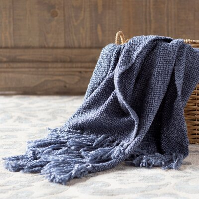Nova Woven Throw Blanket Color: Denim