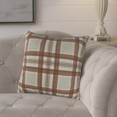 Cavalier Cotton Throw Pillow Size: 18 H x 18 W x 4 D, Color: Brown