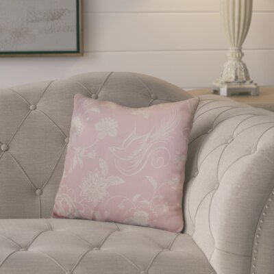 Rolla Decorative Holiday Throw Pillow Size: 18 H x 18 W, Color: Light Pink