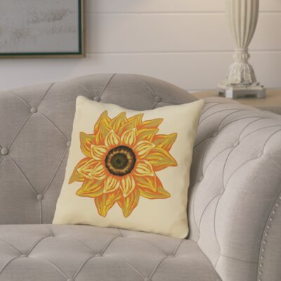 Floral Outdoor Throw Pillow Color: Yellow
