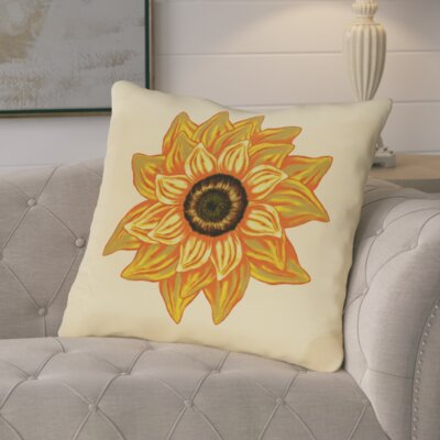 Essonne El Girasol Feliz Flower Print Throw Pillow Color: Yellow
