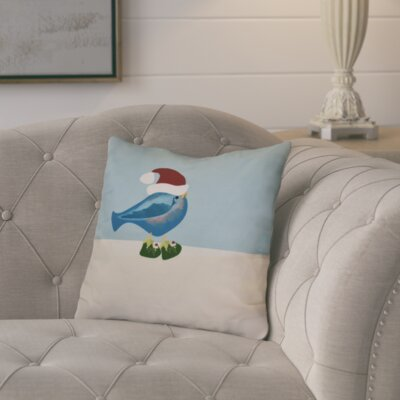 Decorative Holiday Animal Print Outdoor Throw Pillow Color: Teal, Size: 18 H x 18 W
