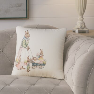 Nicholas Easter Bunnies Throw Pillow