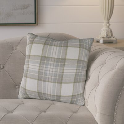 Cavalier Cotton Throw Pillow Size: 18 H x 18 W x 4 D, Color: Gray