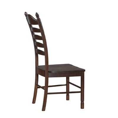 Biermann Solid Wood Dining Chair with Ladder Back Finish: Espresso