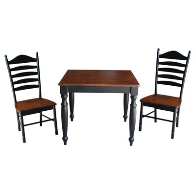 Henrietta 3 Piece Dining Set with Turned Legs