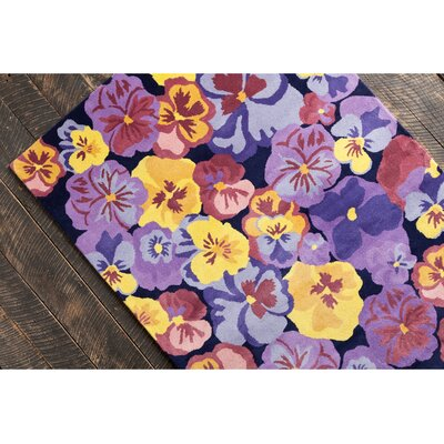 Mazie Hand Tufted Wool Purple/Yellow Area Rug Rug Size: 8 x 10