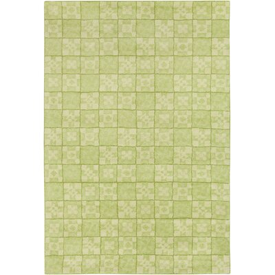 Mazie Hand Tufted Wool Green Area Rug Rug Size: 8 x 10