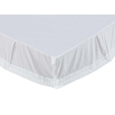 Madelyn Bed Skirt Size: King, Color: White