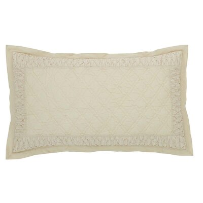 Madelyn Sham Size: Luxury, Color: Creme