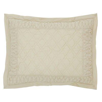 Madelyn Sham Size: Standard, Color: Creme