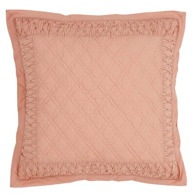Madelyn Sham Size: Euro, Color: Apricot