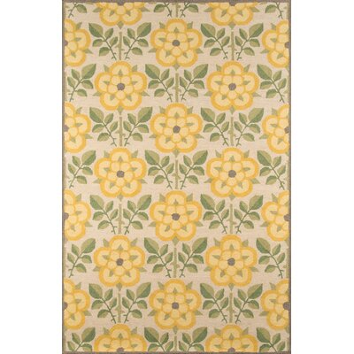 Dottie Hand-Tufted Yellow Area Rug Rug Size: 39 x 59
