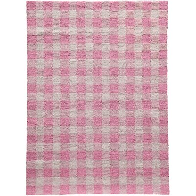 Violet Hand-Woven Pink Area Rug Rug Size: Rectangle 76 x 96