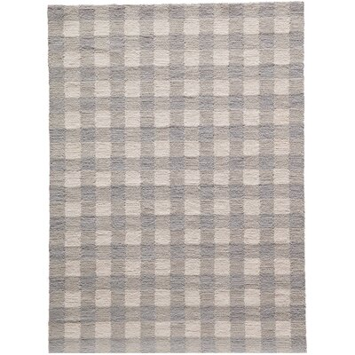 Violet Hand-Woven Gray Area Rug Rug Size: Rectangle 76 x 96
