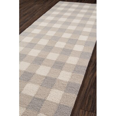 Violet Hand-Woven Gray Area Rug Rug Size: Runner 23 x 76