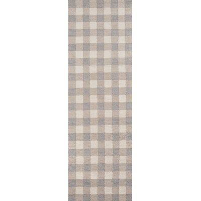 Violet Hand-Woven Gray Area Rug Rug Size: 36 x 56