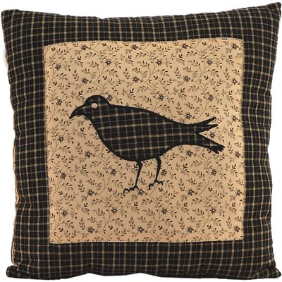 Millicent Crow Cotton Throw Pillow