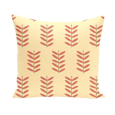 Arnaud Floral Print Outdoor Pillow Color: Seed, Size: 16 H x 16 W x 1 D