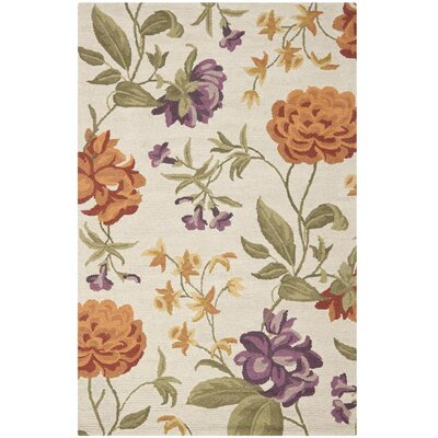 Ginger Ivory Floral Area Rug Rug Size: Rectangle 5 x 8