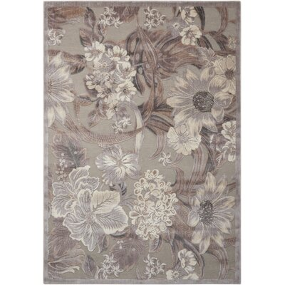 Galva Gray Area Rug Rug Size: Rectangle 36 x 56