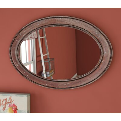 Oval Smackle Crackle Mahogany Mirror