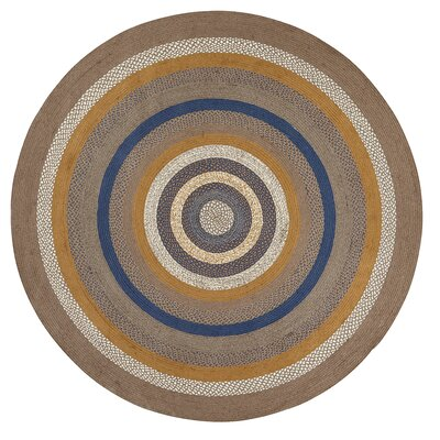 Roxanne Gray Area Rug Rug Size: Round 8