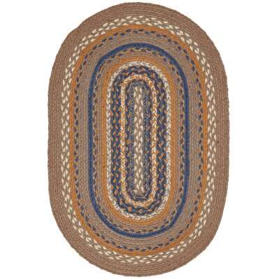 Roxanne Gray Area Rug Rug Size: Oval 18 x 26