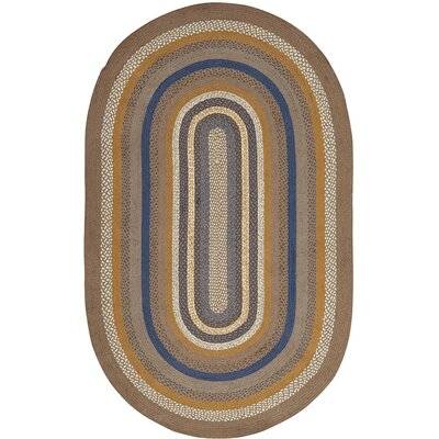 Roxanne Gray Area Rug Rug Size: Oval 5 x 8