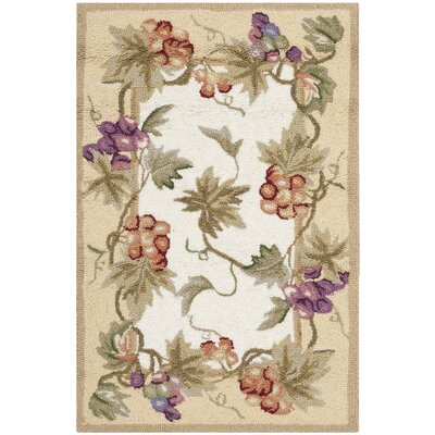 Kinchen Ivory/Tan Area Rug Rug Size: Rectangle 89 x 119