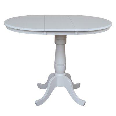 Madeline Pub Table Color: Linen White